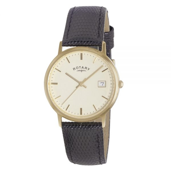 Rotary Gents 18 Carat Gold Strap Watch