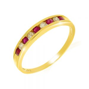 9 Carat Gold Ruby and Diamond Eternity Ring