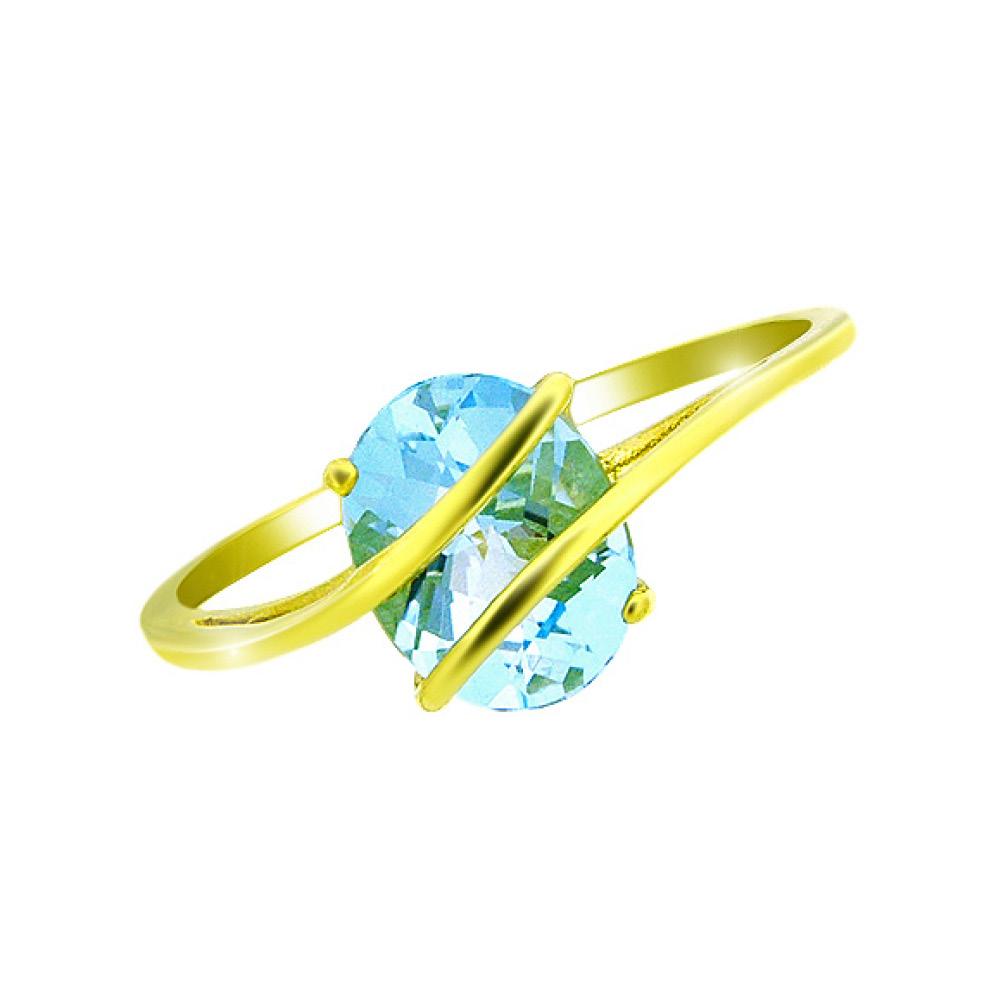 9 Carat Gold Blue Topaz Ring