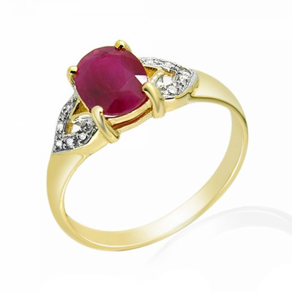 9 Carat Gold Ruby and Diamond Ring
