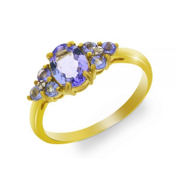 9 Carat Gold Tanzanite Boat Ring