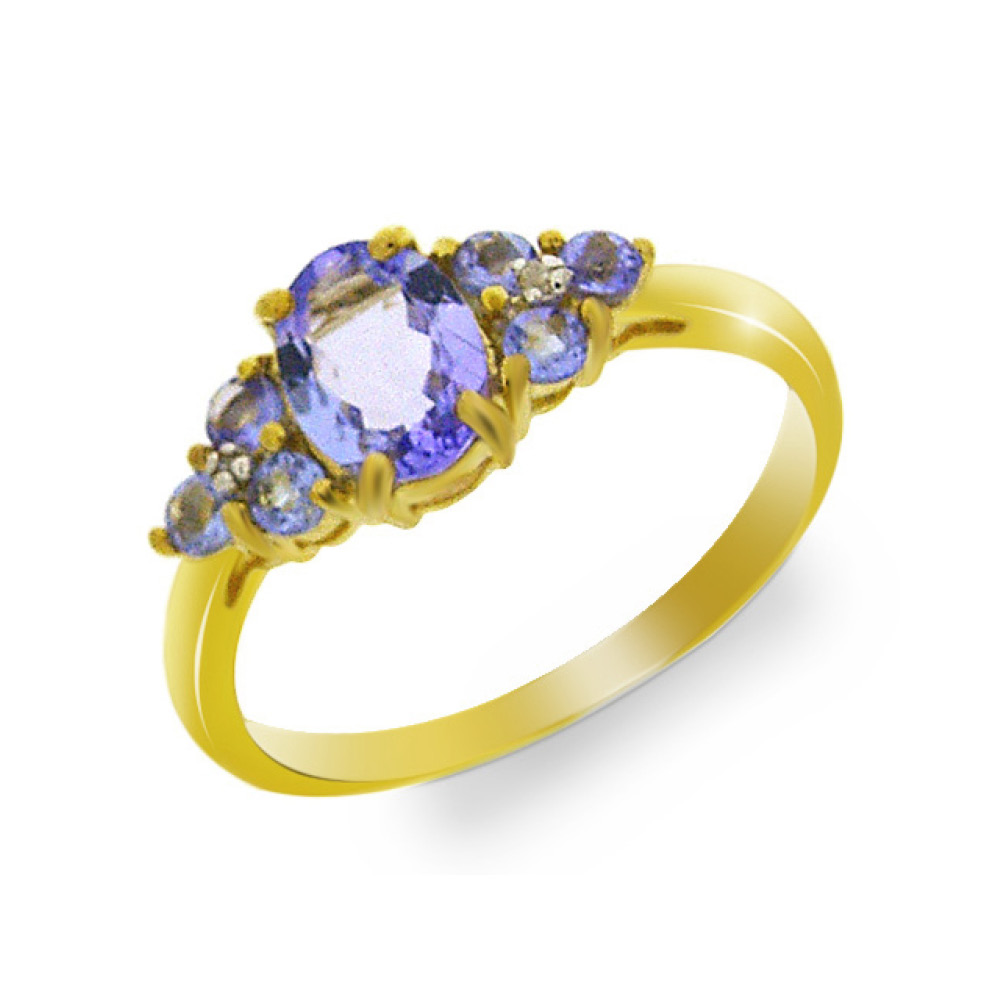9 Carat Gold Tanzanite Boat Ring