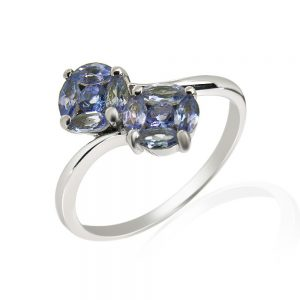 9 Carat White Gold Tanzanite Ring