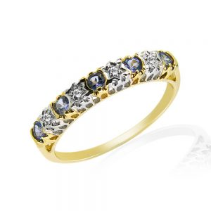 9 Carat Tanzanite and Diamond Eternity Ring