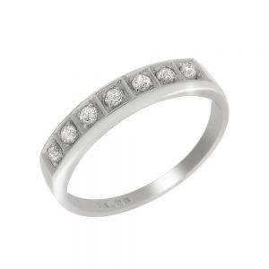 9 Carat White Gold Diamond Eternity Ring