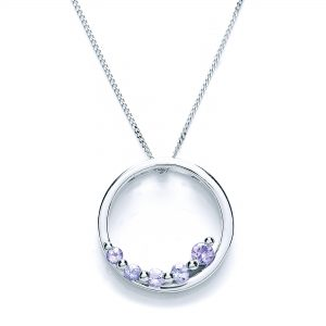 9 Carat White Gold Tanzanite Pendant