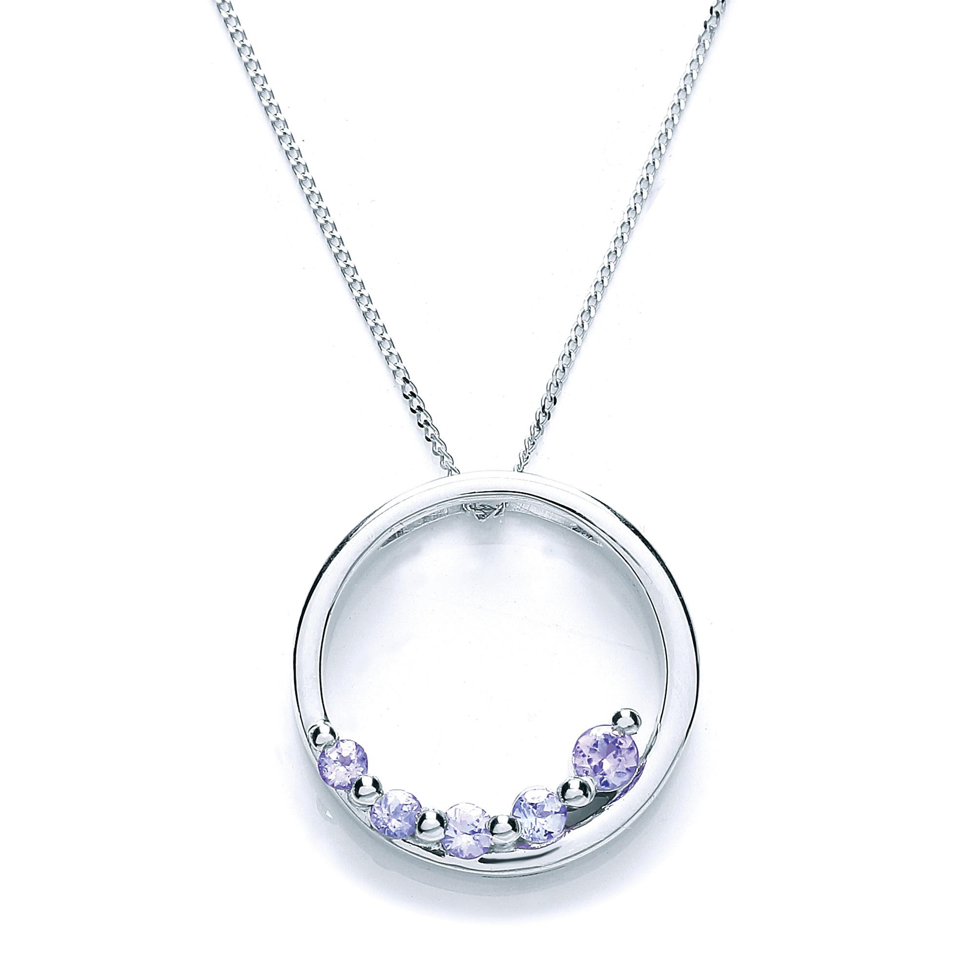 9 carat white gold tanzanite pendant hj johnson devizes 9 carat white gold tanzanite pendant aloadofball Image collections