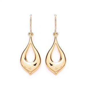 9 Carat Gold Drop Earrings