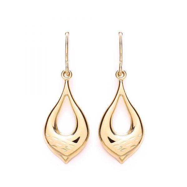 9 Carat Gold Drop Earrings