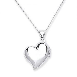 9 Carat White Gold Heart Locket