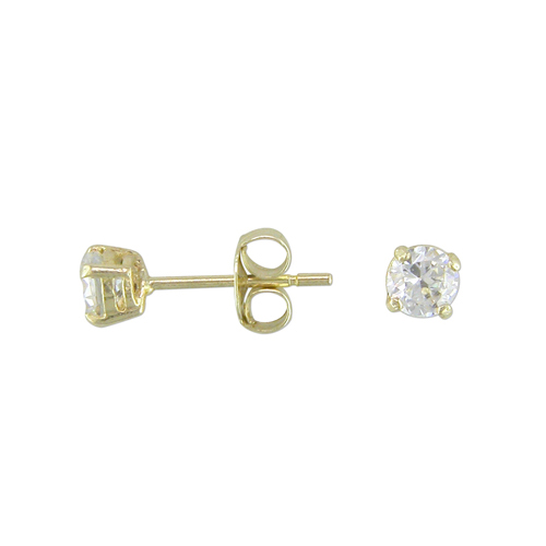 9 Carat Gold CZ Stud Earrings