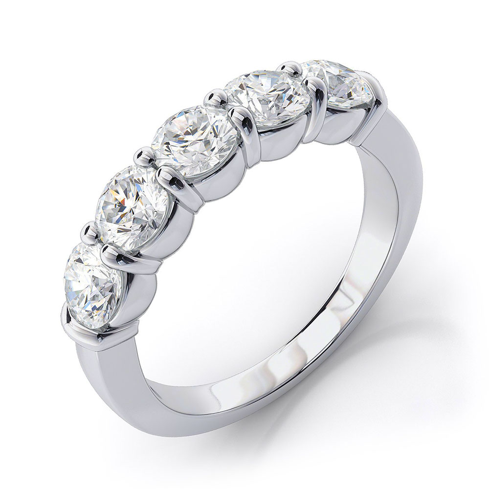 pave ring carat mccaul horseshoe collection gold white goldsmiths diamond
