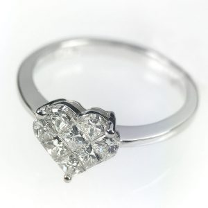 Diamond Heart Shaped Ring