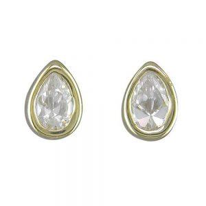 Gold Cubic Zirconia Stud earring