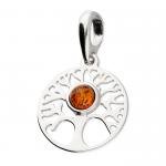 Silver Amber Pendant