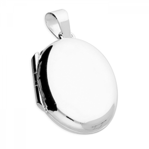 Silver plain locket