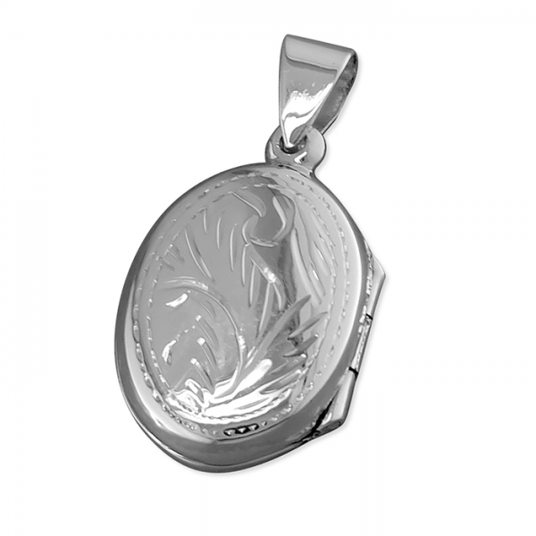 Silver Engraved Locket