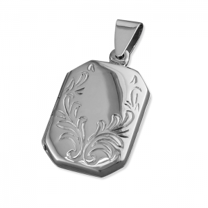 Embossed Silver Locket