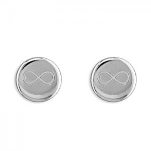 Sterling Silver Infinity Earring