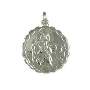 Silver Round St. Christopher