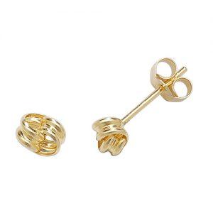 Plain Gold Stud Earrings