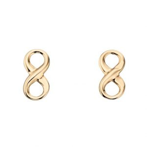 Gold Infinity Studs