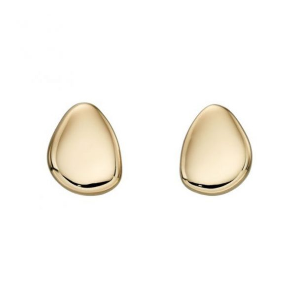 gold pebble studs