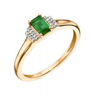 Gold deko style ring