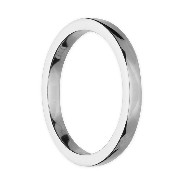 Silver Plain heavy square Ring