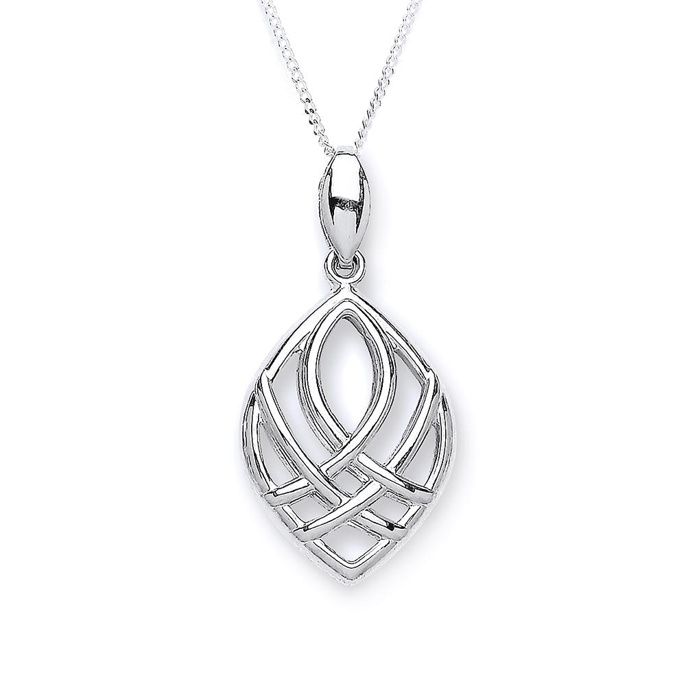 9 carat white gold pendant
