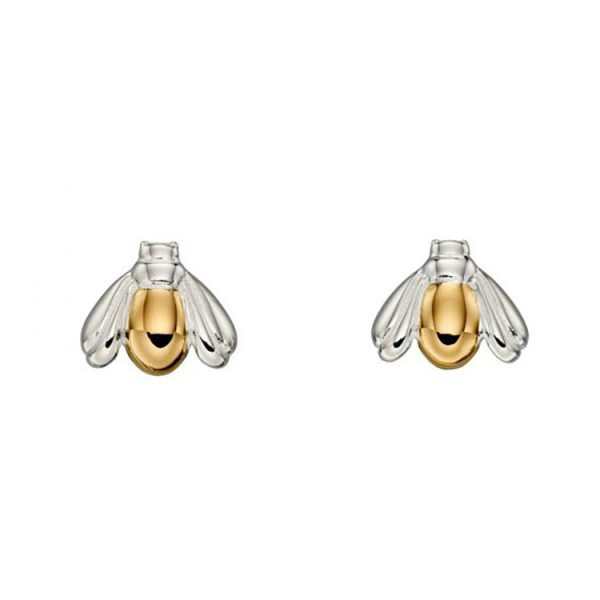 Silver & Gold Plated Bee Studs