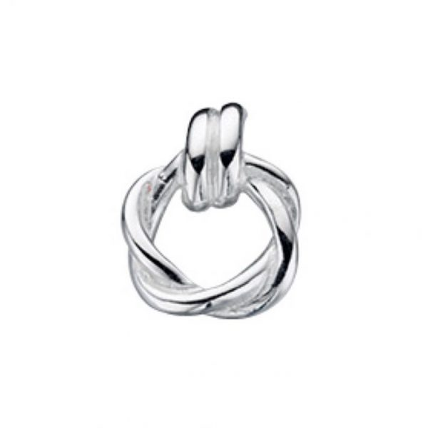 Silver Twist Circle Pendant