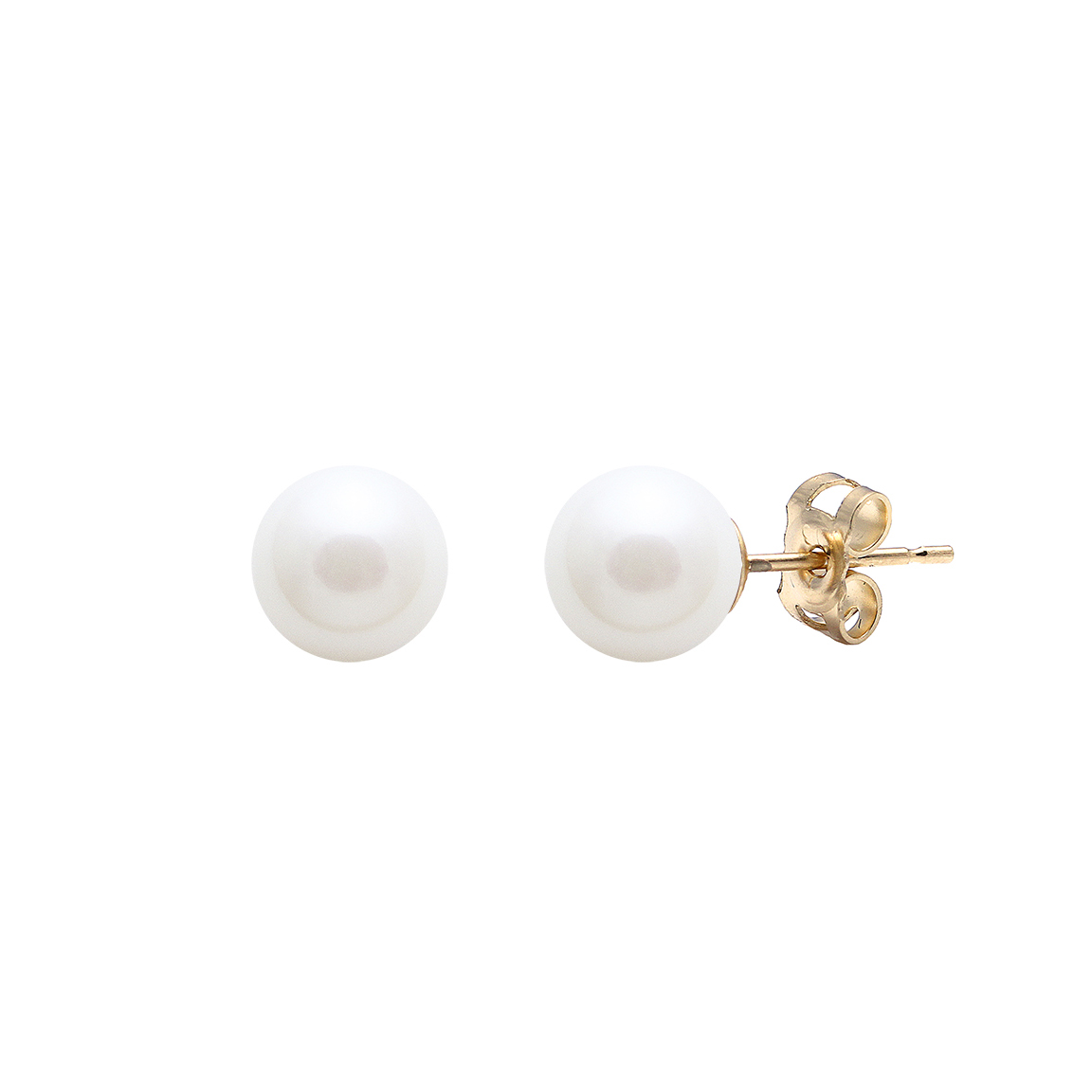 9 Carat Gold Cultured River Pearl Studs