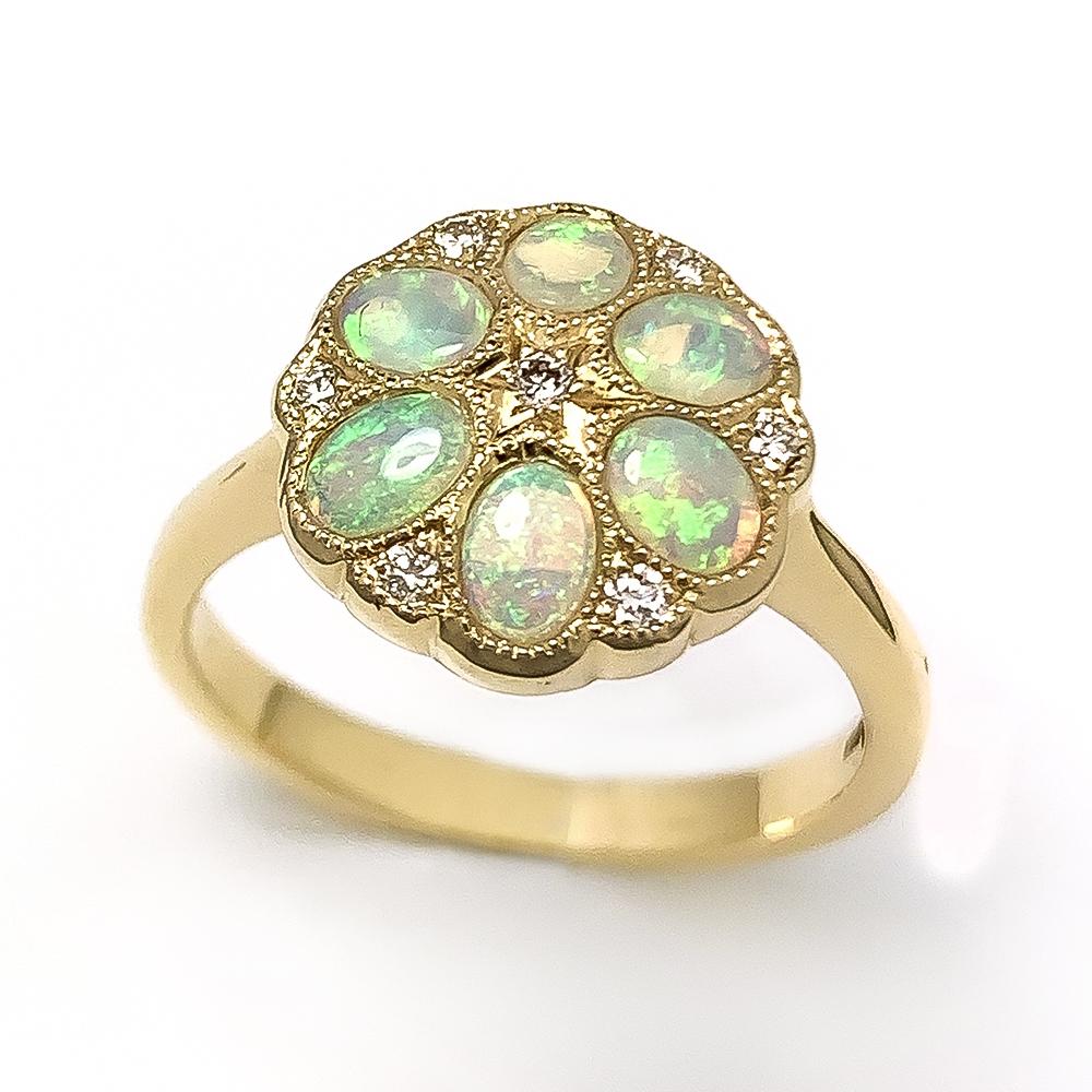 Opal & Diamond Dress ring